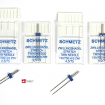 Schmetz Pacchetto promozionale Aghi Gemelli stretch